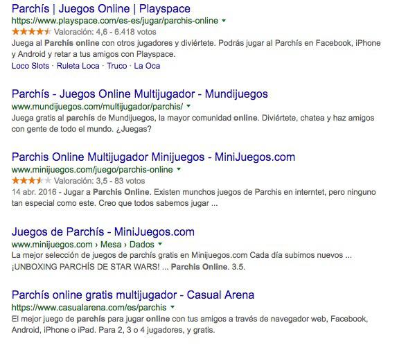 Google y parchis online